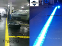 Illuminated LED line tiles